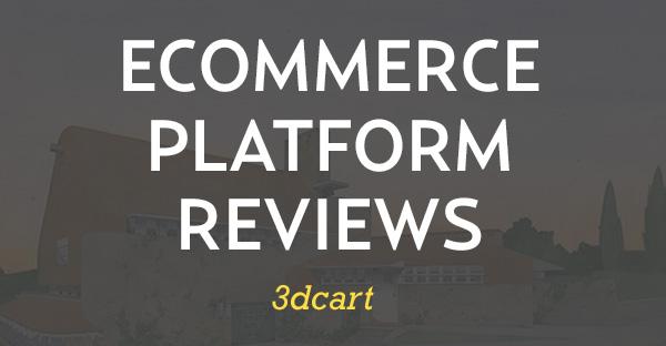 E-handel plattform gjennomgang for 3dcart