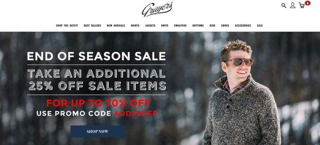 online store - grayers