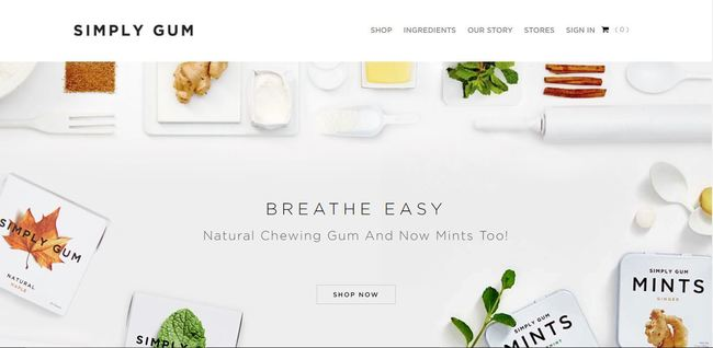 online store - simply gum
