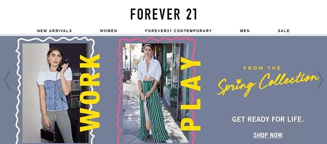 online store - Forever 21