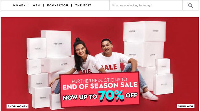online store - Koovs