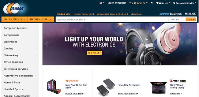 online store - newegg