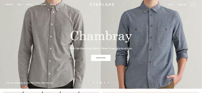 online store - everlane
