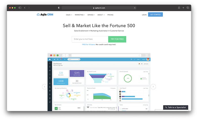 Shopify ecommerce CRM - Agile CRM