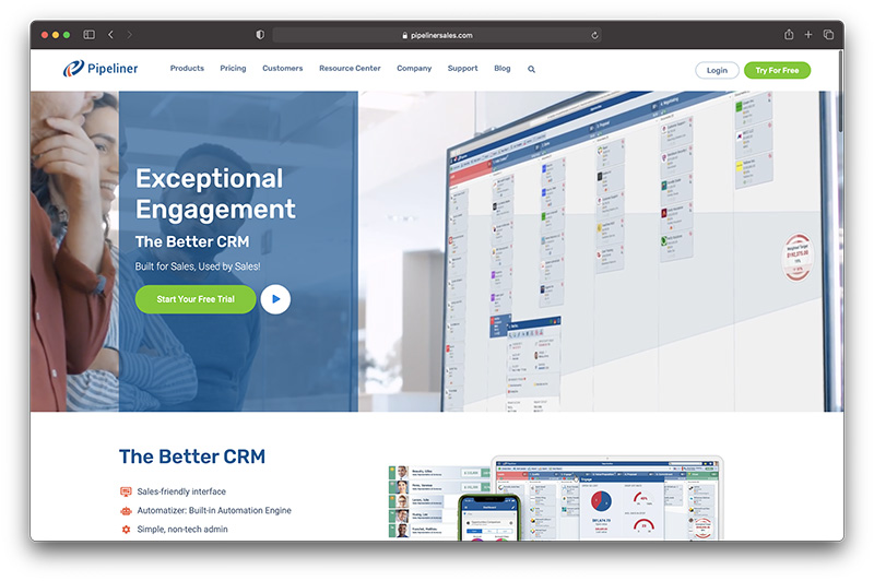 Shopify ecommerce CRM - Pipeliner