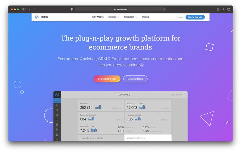 Shopify ecommerce CRM - Metrilo