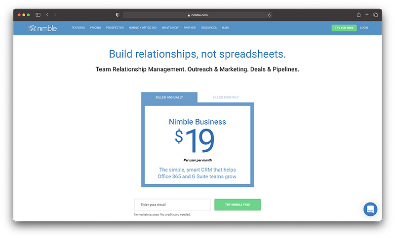Shopify ecommerce CRM - nimble pricing