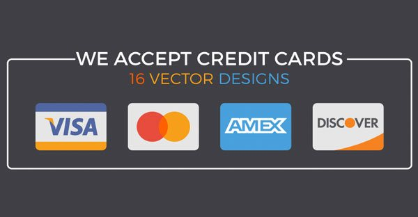 We Accept Credit Cards: 14 Editable Vector Designs for Your