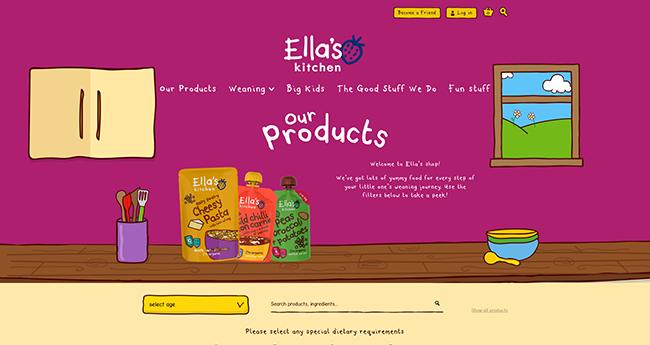 online store - ella's kitchen