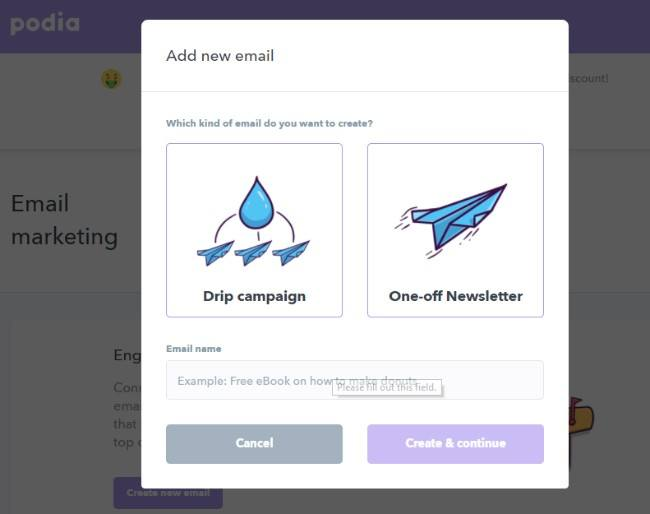 Udemy alternatives- podia subscription