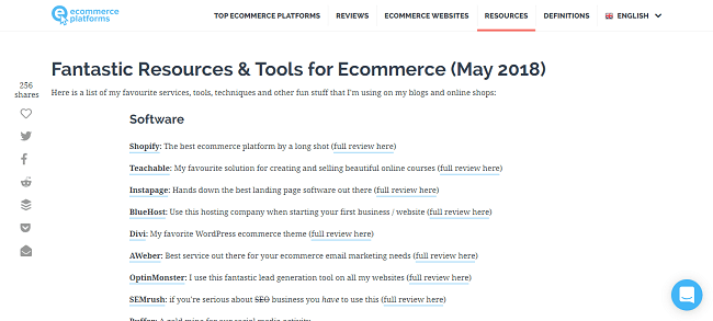 glossary for ecommerce content marketing