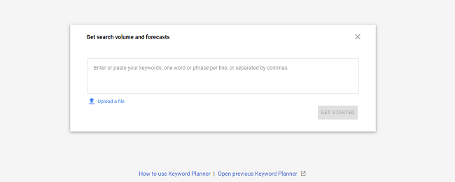 keyword planner for ecommerce content marketing