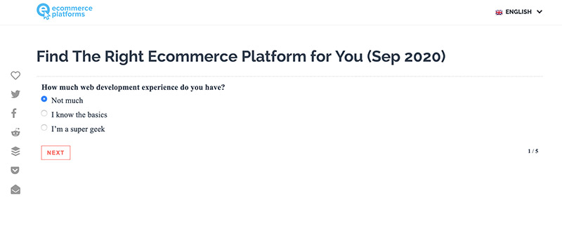 quiz for ecommerce content marketing