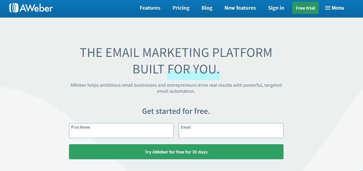 Email marketing AWeber vs Mailchimp