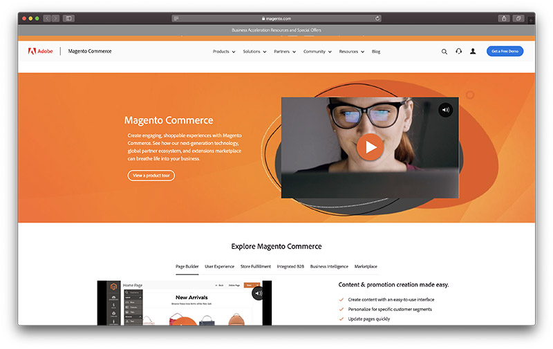 magento review - homepage