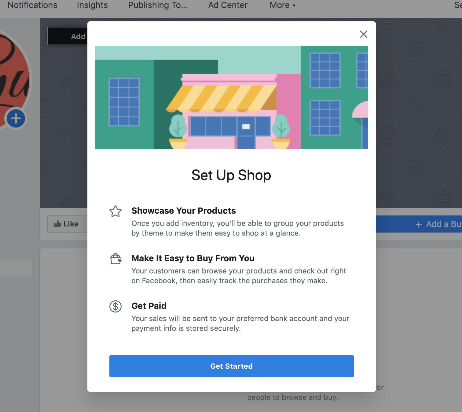 Established a Facebook shop