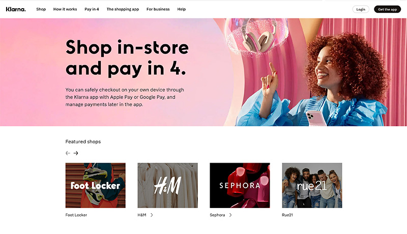 klarna stores for end users