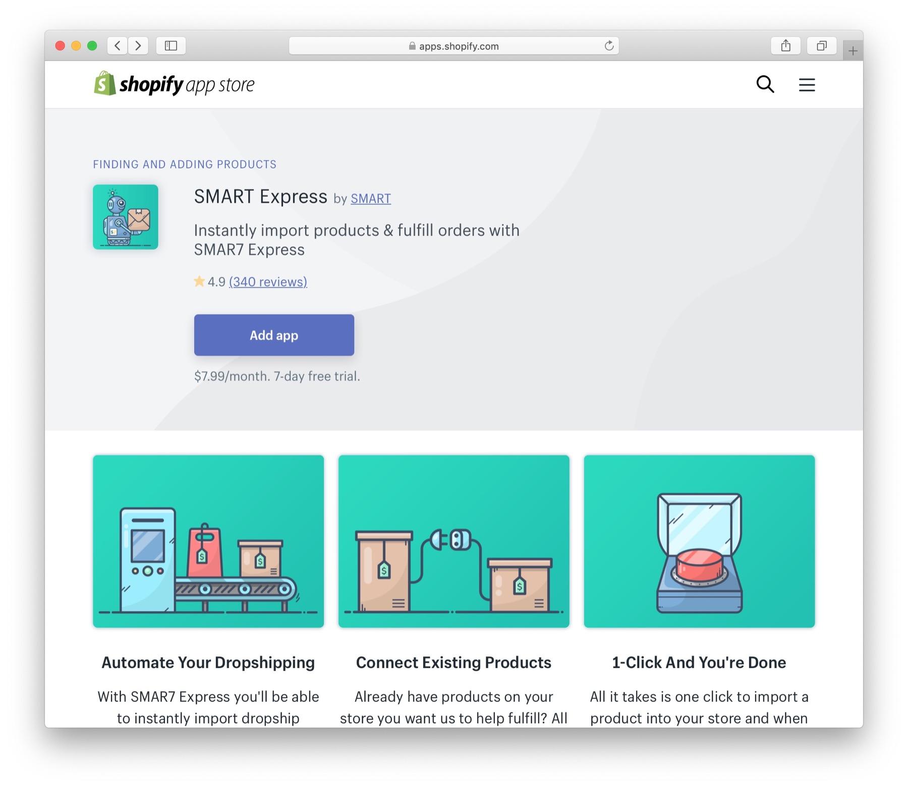 Dropshipping app SMAR7