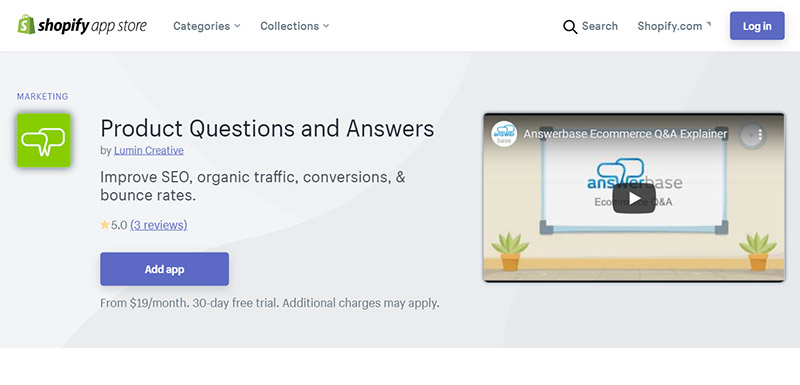 Product Questions and Answers - Best Shopify SEO Apps