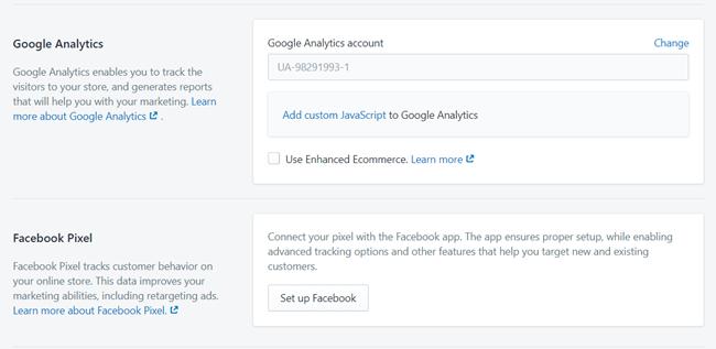 تحليلات Shopify خدمات SEO