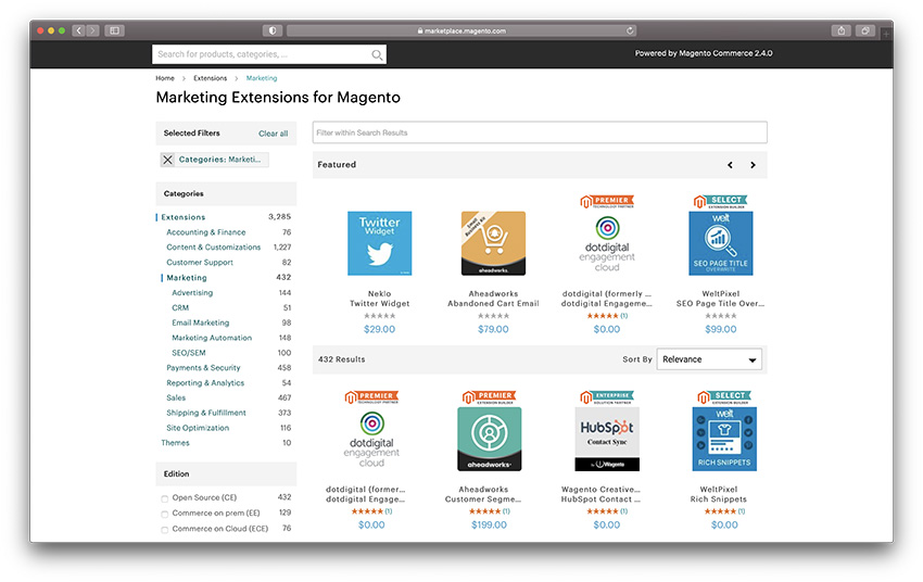 magento seo extensions and integrations