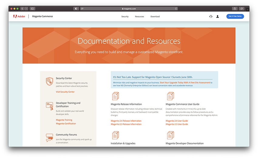 magento technical resources