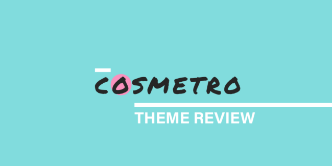 cosmetro theme review
