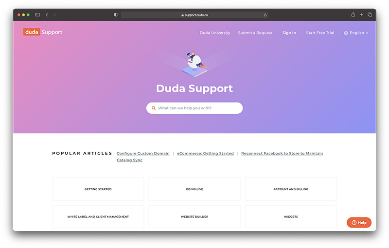 duda review support