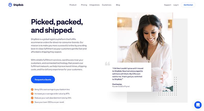 shipbob homepage - best usa fulfillment service