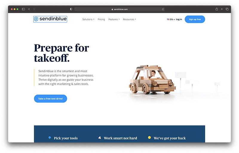 sendinblue - best zendesk alternatives