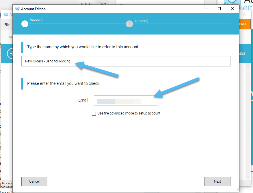 add account - Automatic Email Manager