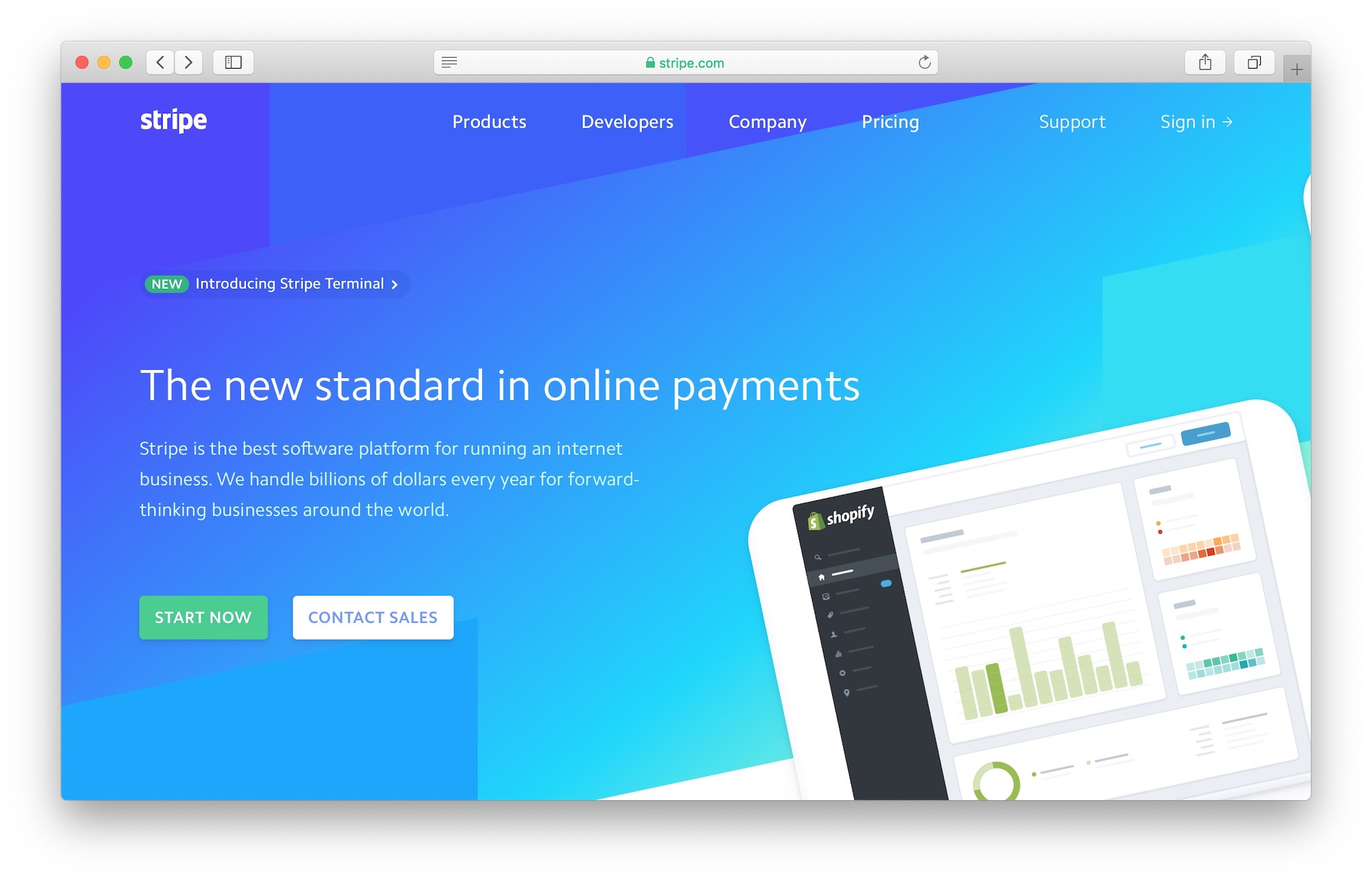 Stripe Homepage